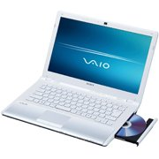 Sony VAIO CW Series VPC-CW17FX/W - Core 2 Duo- 14- Inch Widescreen TFT 1366 x 768 ( WXGA ) - camera - icy white