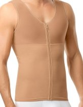 Upper Body Full Compression Men Shaper,Cafe,M
