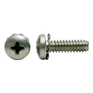 410 Stainless Steel Thread Cutting Screw 3//4 Length #8-32 Thread Size Pan Head Pack of 25 Plain Finish Phillips Drive Type F
