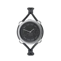 DOLCE AND GABBANA BLACK LEATHER BAND LADIES WATCH -  3719080004