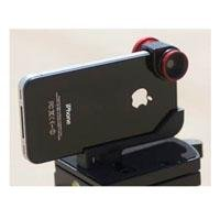Olloclip Quick-Connect Lens Solution (Fisheye Lens, Macro Lens, Wide-angle Lens)for iPhone 4 / 4S - OC-IPH4-FWM-R - Red