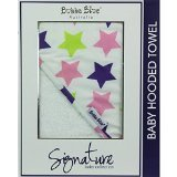 "Bubba Blue Baby Boy's Hooded Towel-Stars ""Signature"" Pink 75X75cm - 1"