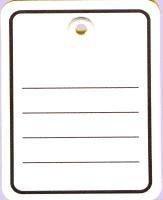 Étiquettes en carton imprimé (1000 étiquettes en carton en avec œillet 48 x 65 mm