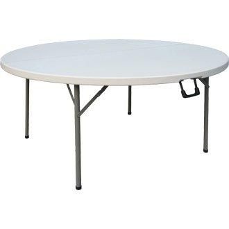 Jardín / bufé / Evento Redondo Centro Mesa Plegable - 1,5 m - resistente y robusto muebles, ideal para exterior o eventos