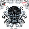 Top Heavy - Filigree Stares Face Skull decalcomania Sticker - 5.25'' x 5.25' - Weather Resistant, Long Lasting for Any Surface