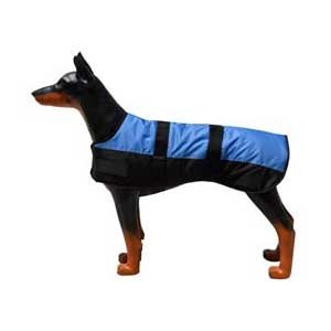 Hundemantel Eisb&#228;r - Blau/Schwarz - 70 cm