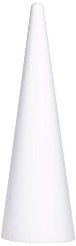 rayher-hobby-3003700-cono-di-polistirolo-per-bricolage-diametro-25-cm-altezza-80-cm