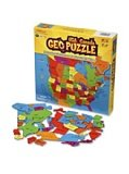 GeoPuzzle U.S.A. and Canada - Educational Geography Jigsaw Puzzle (69 pcs)