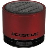 Scosche boomSTREAM mini Portable Bluetooth Wireless Media Speaker - Red