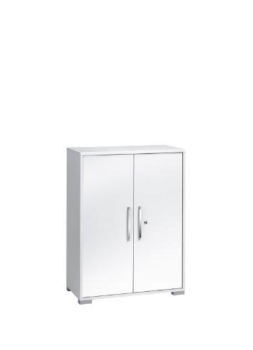 Möbel 1226 3956 Aktenregal mit Türen, Icy-weiß - weiß Hochglanz, Abmessungen BxHxT: 80 x 109,7 x 40 cm