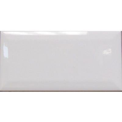 U.S. Ceramic Tile Bright Glazed Snow White 3 in. x 6 in. Ceramic Beveled Edge Wall Tile (10 sq. ft. / case) (Ceramic Tile Kitchen compare prices)