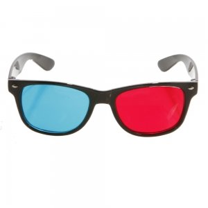 Full Frame Stereo 3D Glasses for 3D Movies TV Game Red + Blue 802