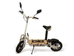 1000 Watt Folding Electric Performance Racing Scooter For Big Kids, White