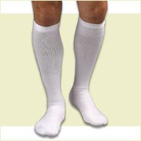 Activa CoolMax Athletic Knee High Support Socks 20-30 mmHg Size: Small White - H31211