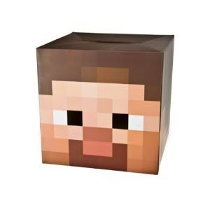 Toy Game Officially Licensed Minecraft 12 Steve Head Costume Cardboard Mask - Easy To See Eye Holes from 4KIDS
