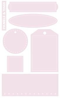 Mrs. Grossman - Textured Tags - Strawberry Shake - 3 Sheets - 1