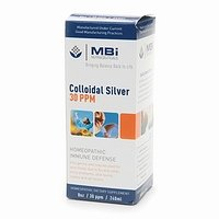 MBi Nutraceuticals Homeopathic Colloidal Silver 30 PPM 8 fl oz (240 ml)