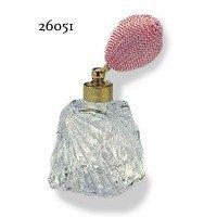 ドイツ製クリスタル香水瓶リードクリスタル 短 20cc ピンク 26051 0916236