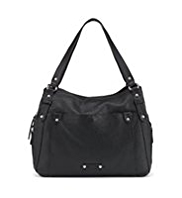 M&S Collection Leather 3 Part Double Handle Patent Work Bag