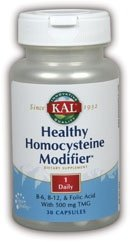 Kal Healthy Homocysteine Modifier -- 30 Capsules