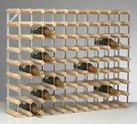 Fully Assembled 90 Bottle Wine Rack - Natural Pine