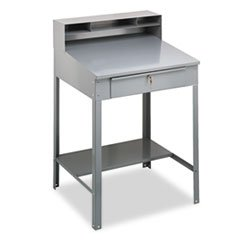 ** Open Steel Shop Desk, 34-1/2w x 29d x 53-3/4h, Medium Gray
