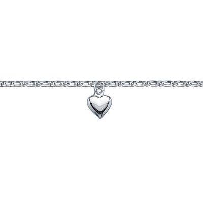 Sterling Silver Love Heart Pendant Anklet Ankle Chain Bracelet