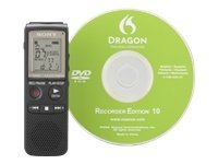 Sony ICD-PX820D Digital Voice Recorder with Built-In 2 GB Flash Memory - Includes Digital Voice Editor Software (Black)