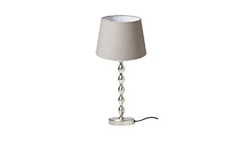 "Ikea Table Lamp Nickel Plated 19"", Gray Shade"