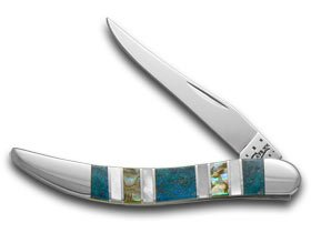 Case Xx Exotic Peacock Coral Abalone Genuine Mother Of Pearl Toothpick Pocket Knife Knives