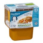 Gerber Gerber Nature Select 2nd Foods Chicken & Rice Nutritious Dinner , 7 oz (Pack of 8) (015000073640)