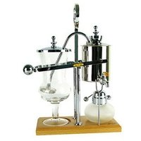 Royal Belgian Balancing Siphon Coffee Maker Silver Chrome