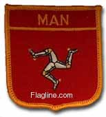Isle of Man - Country Shield Patches - Buy Isle of Man - Country Shield Patches - Purchase Isle of Man - Country Shield Patches (Flagline.com, Home & Garden,Categories,Patio Lawn & Garden,Outdoor Decor,Banners & Flags)