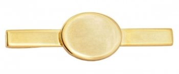 Gold Plated Engravable Skinny Tie Bar