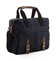 Pure Cotton Waxed Laptop Bag