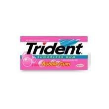 Trident Sugarless Chewing Gum Val U Pak, Bubble Gum - 12 X 18 Stick Pack