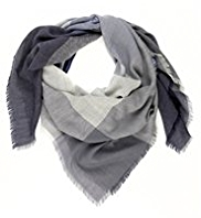 Autograph Pure Wool Lightweight Checked Scarf