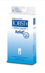 Jobst 114805 Relief 15-20 mmHg Open Toe Knee High Unisex Support Sock Size: X-Large Full Calf
