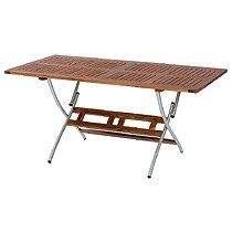 BALKE Gartentisch Singapur 160 x 85 cm, Akazienholz mit Edelstahl, Klapptisch günstig