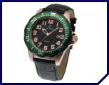 Exclusive Jacques du Manoir Barracuda Rose Gold, Black and Green Men's Watch-Designed and Made 100% in Switzerland