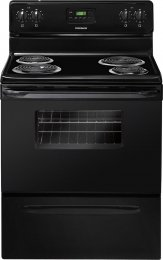 """Frigidaire Ffef3011Lb 30"""" Freestanding Electric Range With 4 Coil Elements, 4.8 Cu. Ft. Oven Capacity True Convection, Store-More Storage Drawer, Manual Clean, Timed Cook Option In Black"""