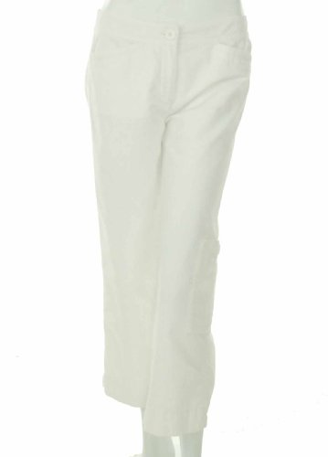 Eileen Fisher Crop Cargo Pant White X-Small