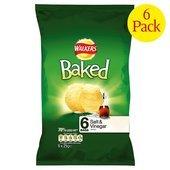 Walkers Baked Salt & Vinegar Crisps 6 X 25G (Quest Chip Salt And Vinegar compare prices)