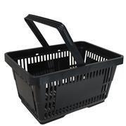 1-Einkaufskorb-aus-Kunststoff-Plastik-mit-Henkel-20-Liter-40cm-stapelbar-schwarz