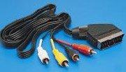 SVD Pro Câbles péritel Péritel vers 4 RCA (audio entrée/sortie)