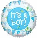 18 It's a Boy Pennants Helium Foil Balloon 1 Per Pack
