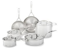 KitchenAid KCC7S10ST 7-Ply Copper Core 10-Piece Set Cookware - Stainless Steel
