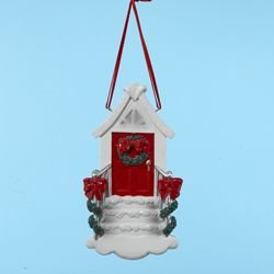 Club Pack of 12 Red Front Door Christmas Ornaments for Personalization