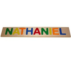 Child's Personalized Name Puzzle - 1-9 Letters - Color: Primary from Ababy