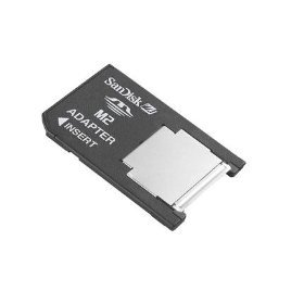 Sandisk M2 (Memory Stick Micro) to PRO DUO Mobile Memory Adapter (Bulk Pack-Memory Card not included)
